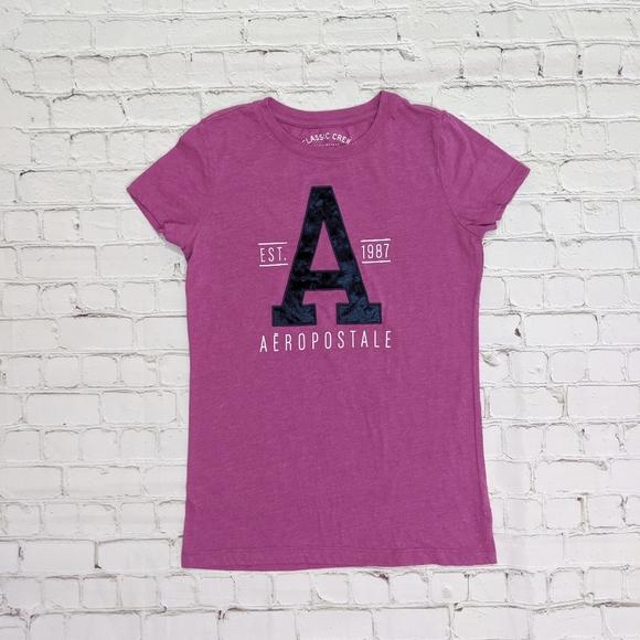 Aeropostale Pink Short Sleeve Classic Crew Tee